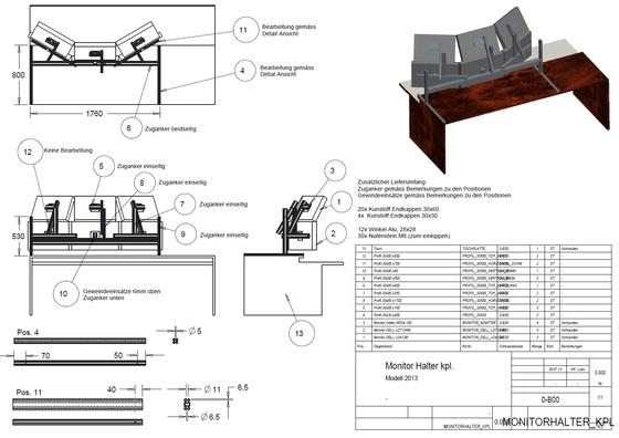 Monitor Halter 2013 CAD