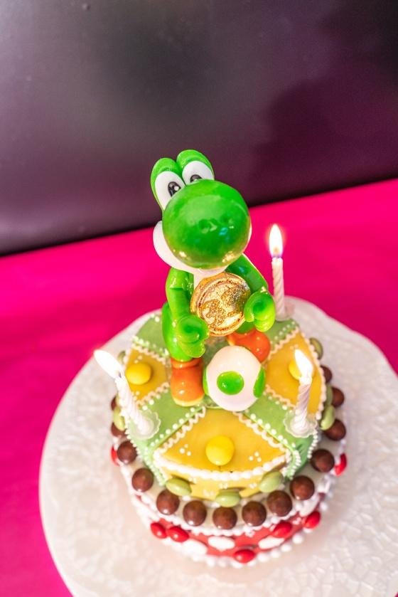 Geburtstagskuchen Dekoration 2019 - Yoshi & Bowser - 015