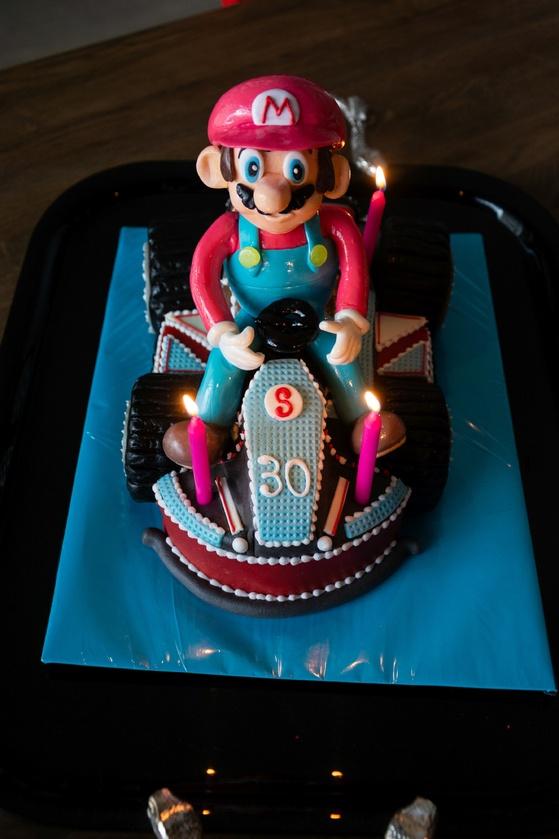 Geburtstagskuchen Dekoration 2016 - Mario Kart - 001