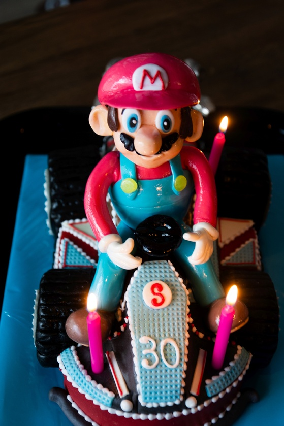 Geburtstagskuchen Dekoration 2016 - Mario Kart - 002
