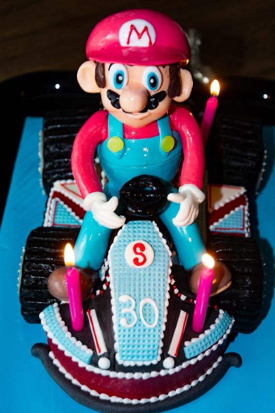 Geburtstagskuchen Dekoration 2016 - Mario Kart - 004