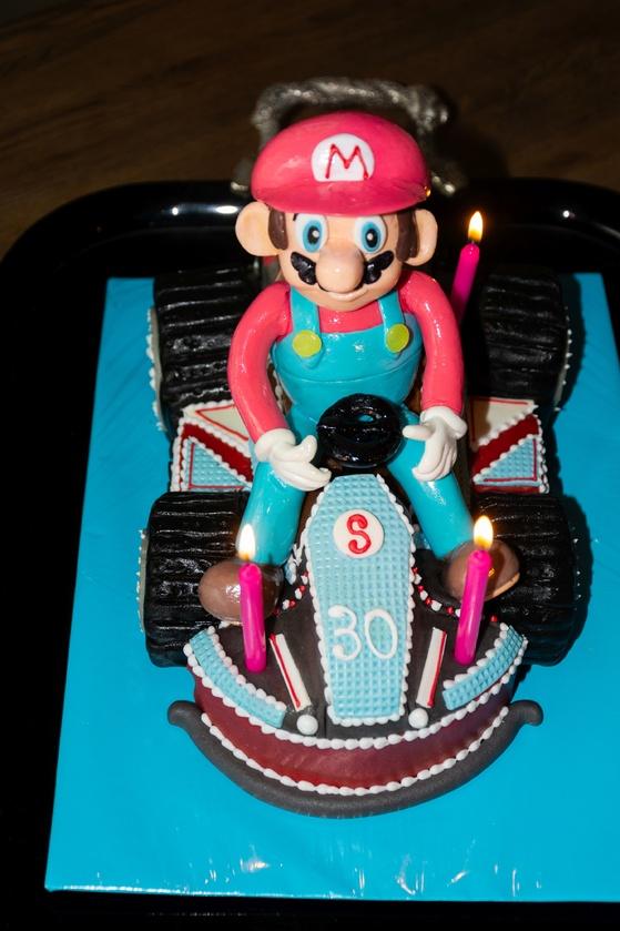 Geburtstagskuchen Dekoration 2016 - Mario Kart - 005