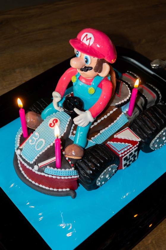 Geburtstagskuchen Dekoration 2016 - Mario Kart - 006