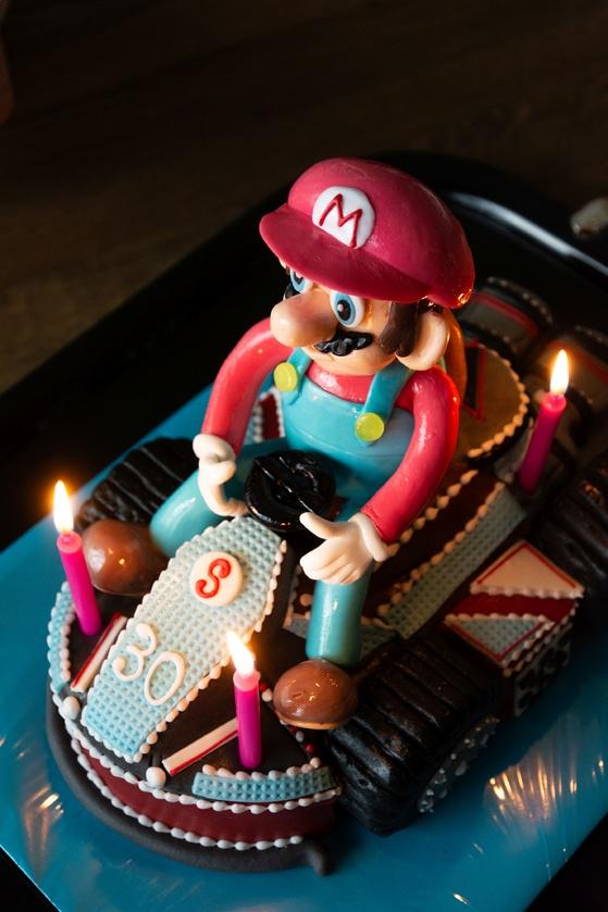 Geburtstagskuchen Dekoration 2016 - Mario Kart - 007