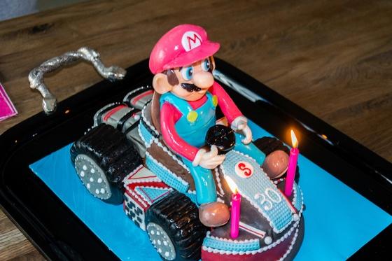 Geburtstagskuchen Dekoration 2016 - Mario Kart - 011