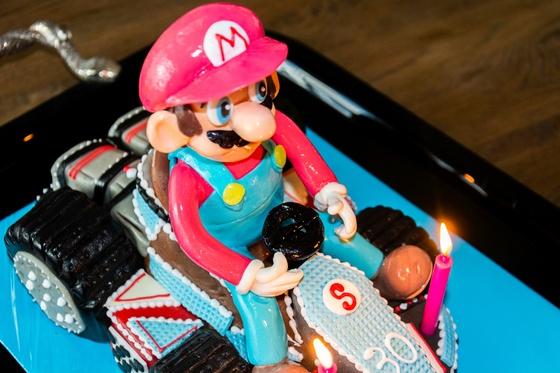 Geburtstagskuchen Dekoration 2016 - Mario Kart - 012