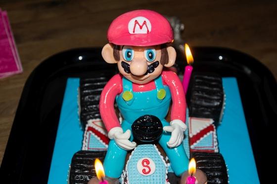 Geburtstagskuchen Dekoration 2016 - Mario Kart - 014