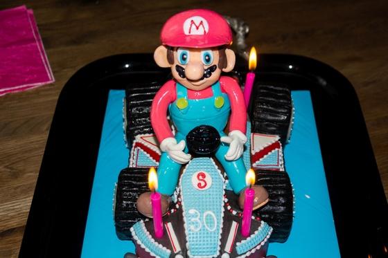 Geburtstagskuchen Dekoration 2016 - Mario Kart - 015