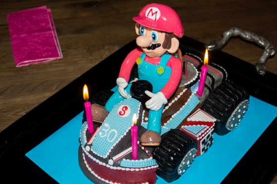 Geburtstagskuchen Dekoration 2016 - Mario Kart - 016