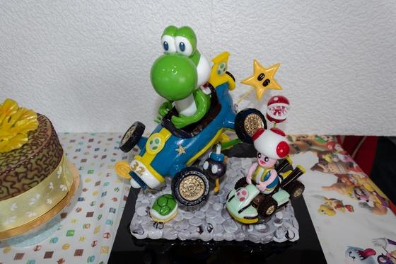 Geburtstagskuchen Dekoration 2018 - Yoshi & Toad - 003