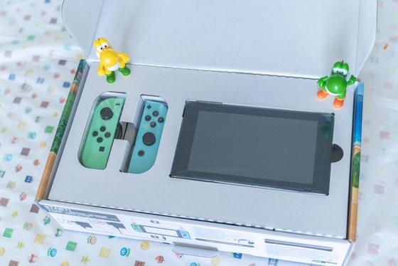 Nintendo Switch Animal Crossing New Horizons Edition Unboxing - 003