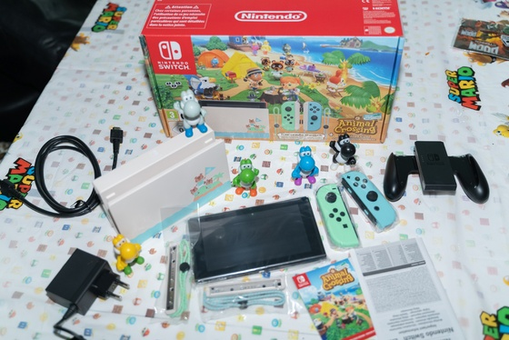 Nintendo Switch Animal Crossing New Horizons Edition Unboxing - 005