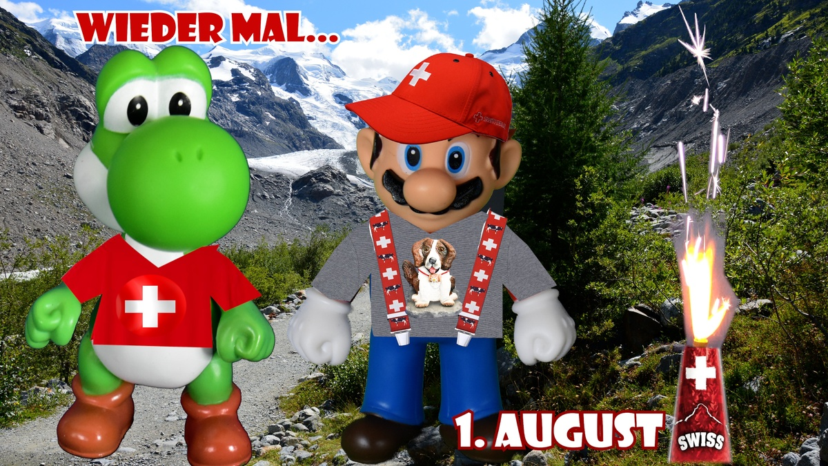 Mario & Yoshi Wallpaper August 2021 - 001