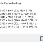 RDP - Monitor Liste MSTSC